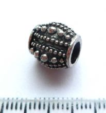 Large Hole European style bead. 11mm x 11mm. Hole 4.5mm